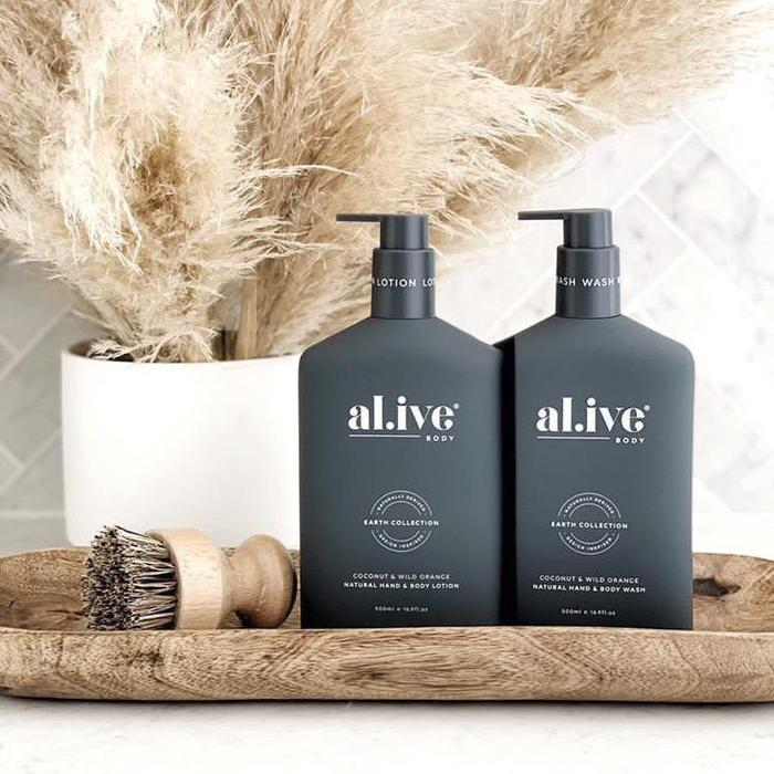 Al.ive - WASH & LOTION DUO + TRAY - COCONUT & WILD ORANGE