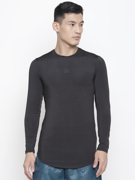 Full sleeves T-shirts-Black