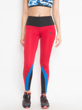 Women's  Solid Legging (Red)