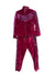 PINK SEQUENCE ON VELVET TRACKSUIT