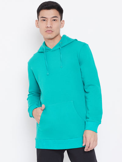 Solid Hoodie Jacket - Sea Green
