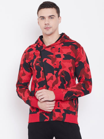 Men's Camo Jacket- Red