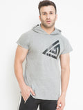 MEN'S DROP HOODIE- GREY