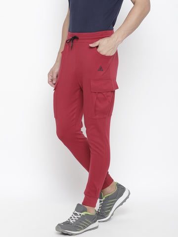 Men's Side Pocket Jogger-Wine