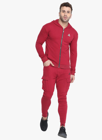 Men's Hoodie Jacket - Red
