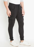 Men's Side Pocket Jogger-Black