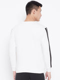 Men's Side Tap Sweatshirt- White