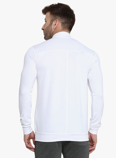 Men's Dry Fit Drag Jacket - White