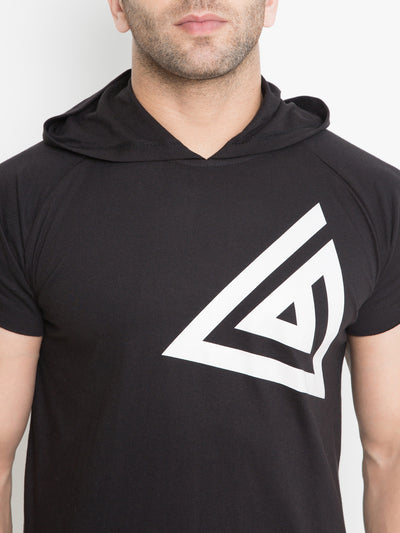 MEN'S DROP HOODIE- Black