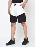 COLOUR BLOCK SHORTS-BLACK