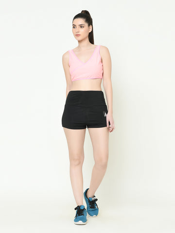 Women's  Scrunch Shorts (Black)