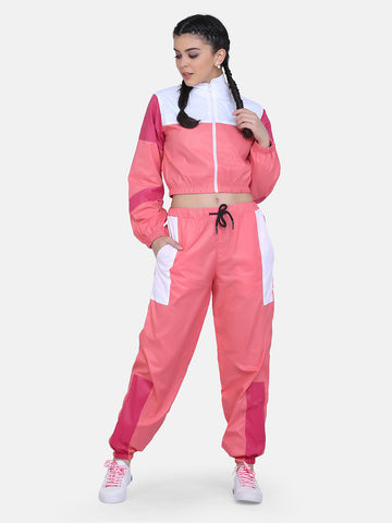 Women Retro Track Suit -Pink