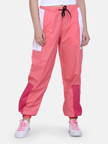 Women's Retro Trackpant-Pink