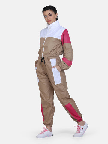 Women Retro Track Suit -Beige