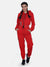 Women Solid stylish Hooded Tracksuit- Red