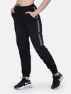 Women Solid Track Pant- Black