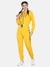 Women Solid stylish Hooded Tracksuit- YELLOW