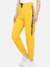 women solid track pant- YELLOW