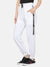 women solid track pant- WHITE
