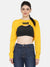 BUST CROP SWEAT SHIRT-YELLOW
