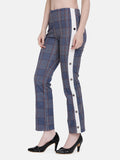 Side Strap Button Jegging - Blue