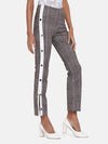 Side Strap Button Jegging- Grey