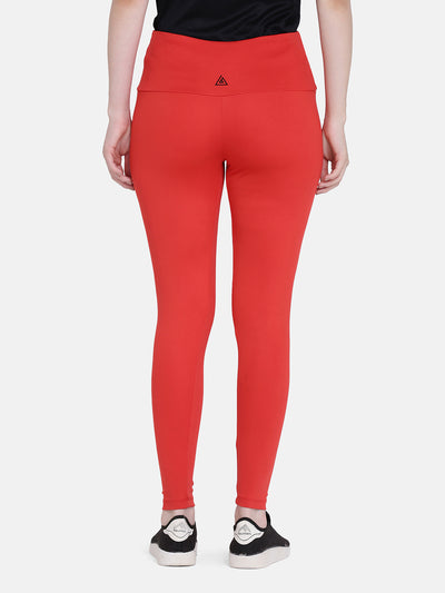 Women's Solid Legging- Red