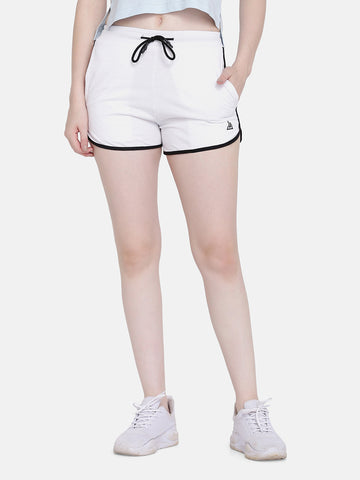 Women's Sports Shorts- White