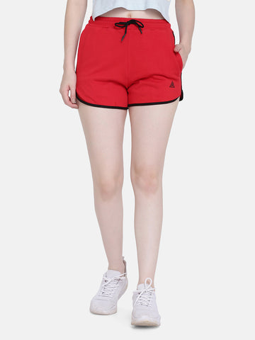 Women's Sports Shorts-Red