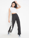 Women's  Buttoned Trackpants (Black)
