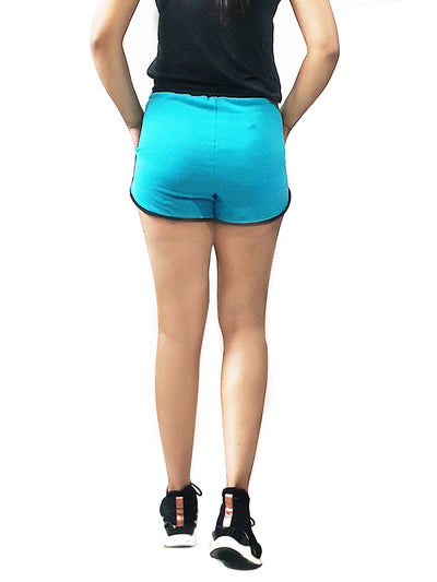 Women's Sports Shorts-Teal