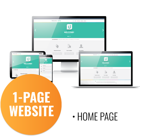 1 Page Website Development