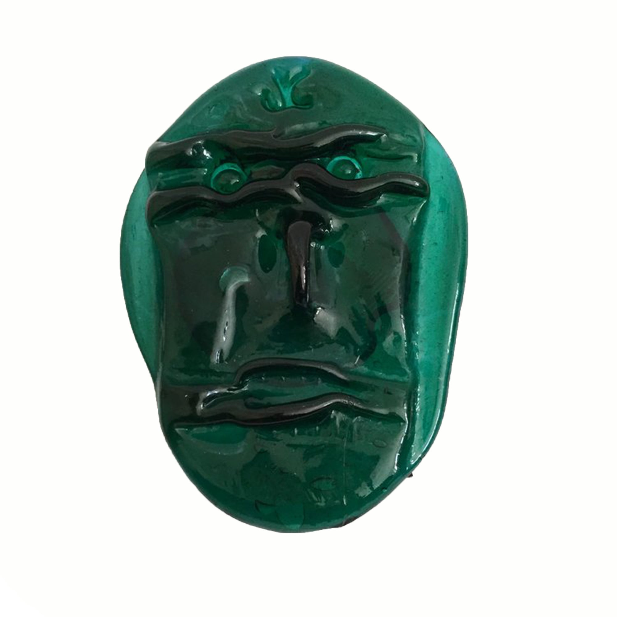 GREEN GLASS FACE