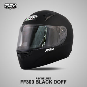 RSV FF300 BLACK DOFF BUNDLING WITH VISOR DARKSMOKE / IRIDIUM SILVER