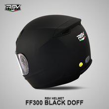 Load image into Gallery viewer, RSV FF300 BLACK DOFF BUNDLING WITH VISOR DARKSMOKE / IRIDIUM SILVER