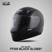 Load image into Gallery viewer, RSV FF300 BLACK GLOSSY BUNDLING WITH VISOR DARKSMOKE / IRIDIUM SILVER