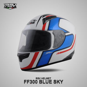 RSV FF300 BLUE SKY BUNDLING WITH VISOR DARKSMOKE / IRIDIUM SILVER