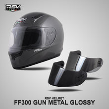 Load image into Gallery viewer, RSV FF300 GUNMETAL GLOSSY BUNDLING WITH VISOR DARKSMOKE / IRIDIUM SILVER