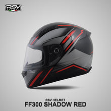 Load image into Gallery viewer, RSV FF300 SHADOW RED BUNDLING WITH VISOR DARKSMOKE / IRIDIUM SILVER