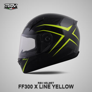 RSV FF300 X LINE YELLOW BUNDLING WITH VISOR DARKSMOKE / IRIDIUM SILVER