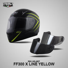 Load image into Gallery viewer, RSV FF300 X LINE YELLOW BUNDLING WITH VISOR DARKSMOKE / IRIDIUM SILVER