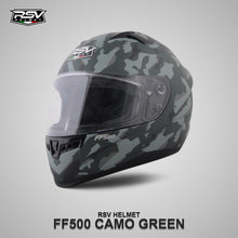 Load image into Gallery viewer, RSV FF500 CAMO GREEN BUNDLING WITH VISOR DARKSMOKE / IRIDIUM SILVER