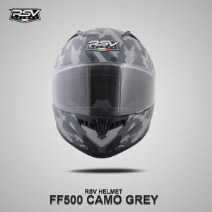 RSV FF500 CAMO GREY BUNDLING WITH VISOR DARKSMOKE / IRIDIUM SILVER