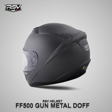 Load image into Gallery viewer, RSV FF500 GUNMETAL DOFF BUNDLING WITH VISOR DARKSMOKE / IRIDIUM SILVER