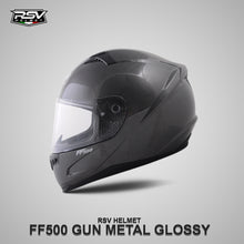 Load image into Gallery viewer, RSV FF500 GUNMETAL GLOSSY BUNDLING WITH VISOR DARKSMOKE / IRIDIUM SILVER