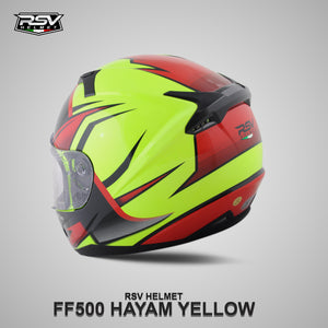 RSV FF500 HAYAM YELLOW BUNDLING WITH VISOR DARKSMOKE / IRIDIUM SILVER