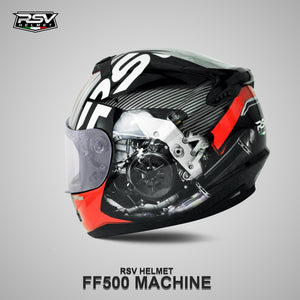 RSV FF500 MACHINE BUNDLING WITH VISOR DARKSMOKE / IRIDIUM SILVER