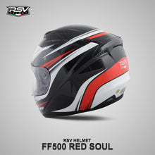Load image into Gallery viewer, RSV FF500 SOUL RED BUNDLING WITH VISOR DARKSMOKE / IRIDIUM SILVER