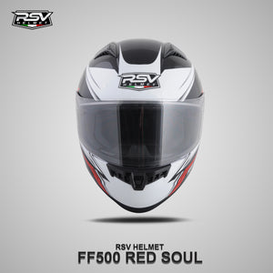 RSV FF500 SOUL RED BUNDLING WITH VISOR DARKSMOKE / IRIDIUM SILVER