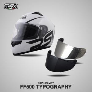 RSV FF500 TYPOGRAPHY BUNDLING WITH VISOR DARKSMOKE / IRIDIUM SILVER